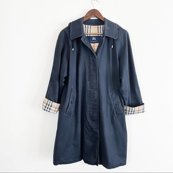 Burberry trench coat removable hood black 8